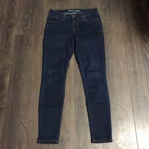Old Navy Rockstar Mid-Rise Dark Wash Skinny Jeans